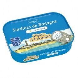 Sardines au naturel 135g